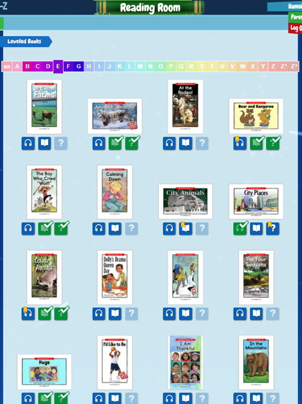 Raz-Kids leveled eBooks (29 levels)
